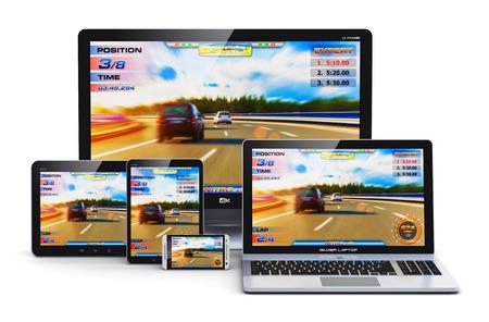 Creativo giochi per computer e tecnologia di intrattenimento concetto astratto Archivio Fotografico - 32007528
