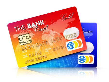 paying: Creative abstract electronic banking, online shopping Stock Photo