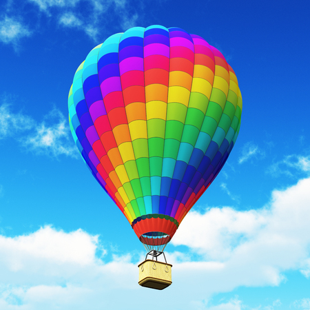 Creative abstract colorful travel, tourism aerial transportation and freedom concept