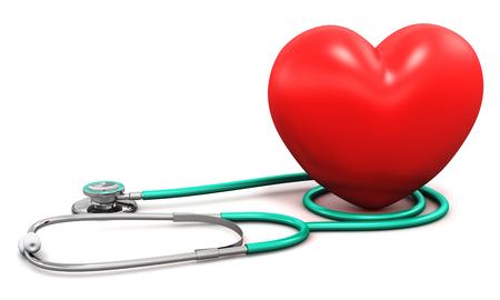 크리 에이 티브 추상 건강 관리, 의학 및 심장 진단 도구 개념