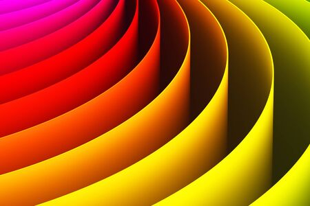 Creative abstract color shape 3D render illustration wallpaper background