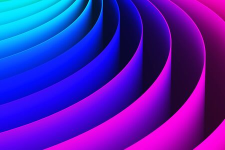 abstract backgrounds: Creative abstract color shape 3D render illustration wallpaper background
