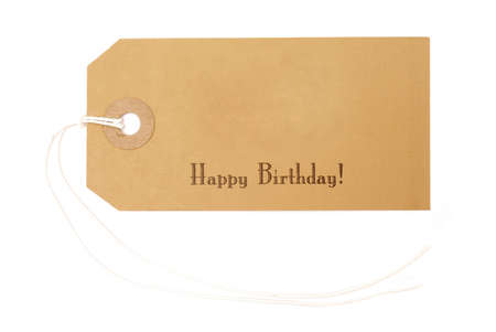 Birthday gift tag Stock Photo - 229329
