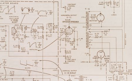 Electronics schematische  Standard-Bild - 229315