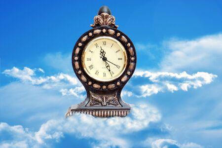 Clock in the clouds