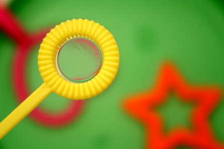 Bubble wand with bubbles Standard-Bild
