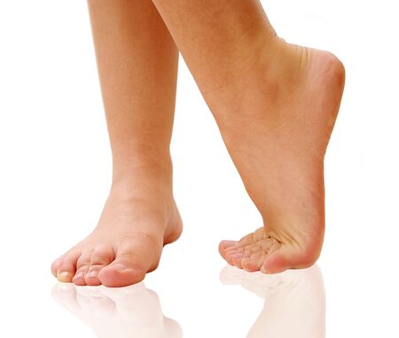dancing feet isolated Standard-Bild