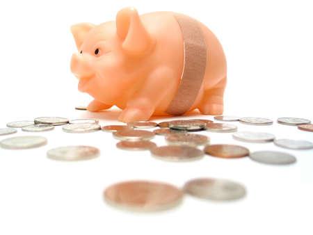 Piggy has been robbed Standard-Bild