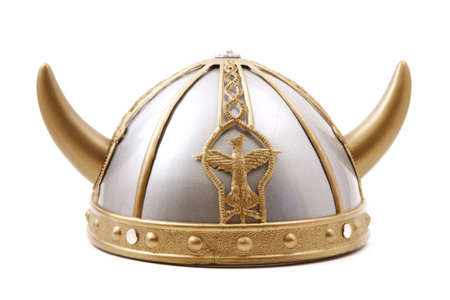 Toy viking cap isolated