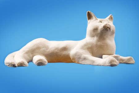 粘土を作った猫の手作り工芸品