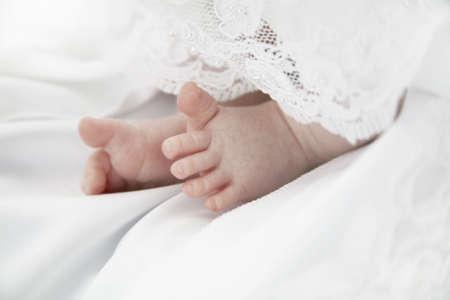 Baby Girls Toes Stock Photo