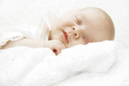 Baby Girl sleeping Standard-Bild