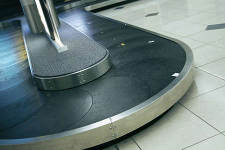 Airport terminal empty luggage belt