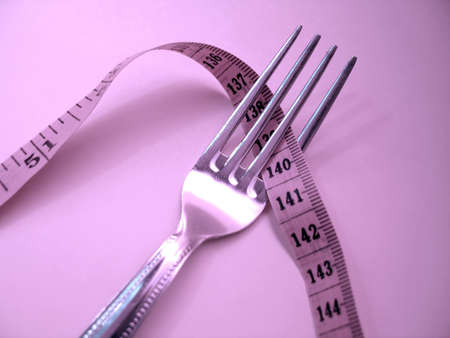 Fork with measuring tape. For dieting purposes.