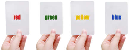 RGYB flash cards Stock Photo - 1438294