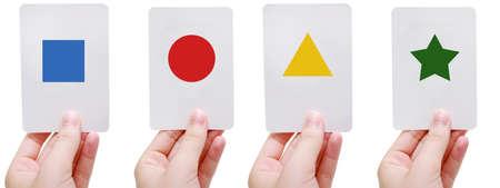 Shapes flash cards  Standard-Bild