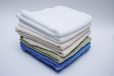 Bath towels Standard-Bild