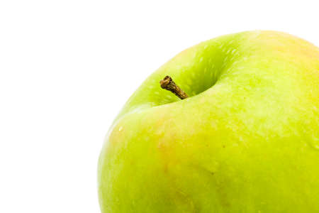 Delicious granny smith apple isolated on white Stock Photo