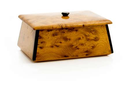 Handmade trinket box isolated on white
