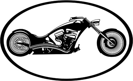 custom chopper bike logo for motorcycle riders Illustration