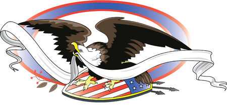 halcones: Nostalgia: American Eagle Vectores