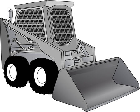 bobcat: machines Stock Illustratie
