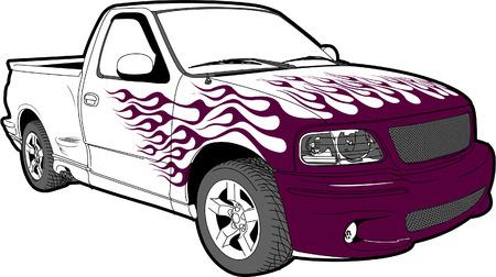 페인트 화염 트럭 및 바디 키트
