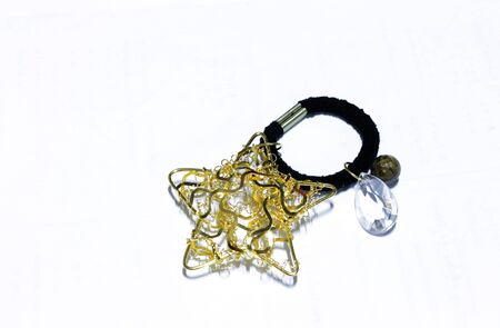 Star from wire gold handmade Stock Photo - 17300313
