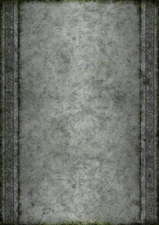 edad de piedra: Antigua de piedra de musgo y adornos Ideal para las creaciones de fantas�a al estilo medieval