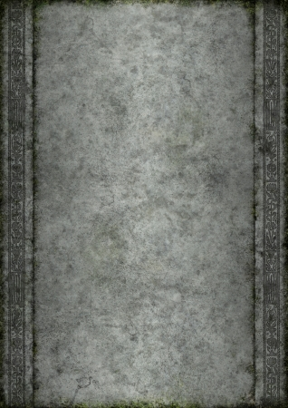 �ge de pierre: Vieille pierre avec de la mousse et id�al pour les cr�ations fantastiques ornement de style m�di�val Banque d'images
