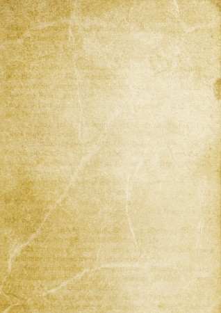 Old paper background with slightly visible text. Mysterious and magical. photo