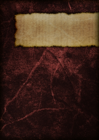 shamanism: Cover of a mysterious old book. Dark and magical. Red.