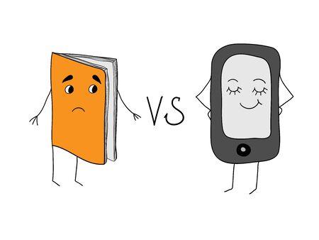 e ink: Paper books and e-books