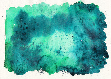 emerald: Emerald green watercolor abstract background. Paper texture