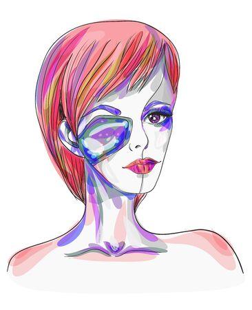 cybernetics: Portrait of the robot girl