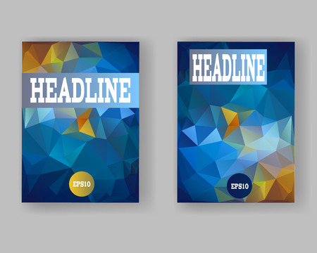 web mail: Templates for banners, brochures, Web, Mail, mobile, technology. Abstract polygon backgrounds Illustration