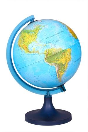 parallel world: Shool globe isolated on white backgroung