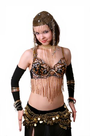 Eastern woman dancing belly dance Stock Photo - 9104823