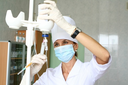 gloves nurse: Nurse