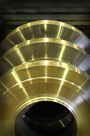 Shining metal details Stock Photo
