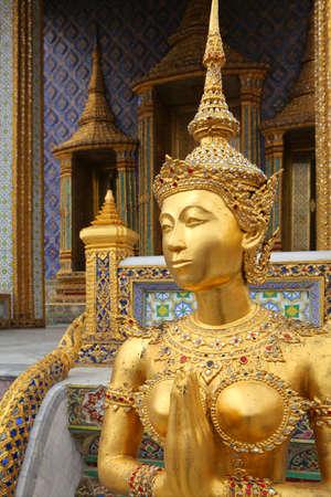 king of thailand: Wat Pra Gaew, The Royal Grand Palace - Bangkok, Thailand  Stock Photo