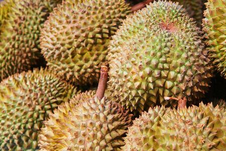 unpleasant smell: Durians at the Phuket market, Thailand