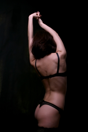 Woman s back and buttocks in underwear photo