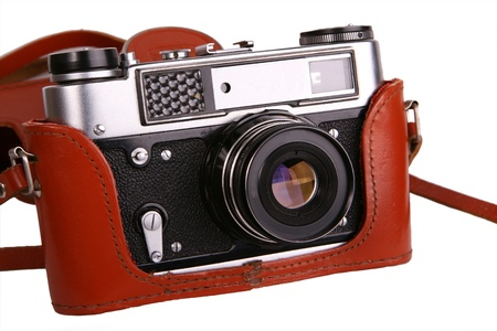 photo of object s: Old retro vintage photo camera