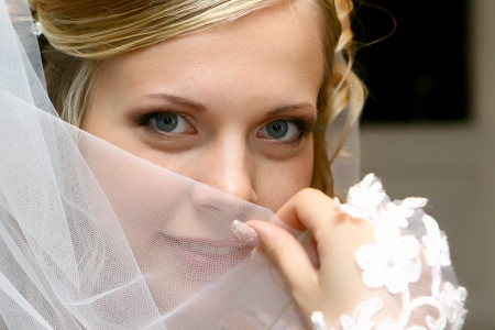 Bride with a veil Stock Photo