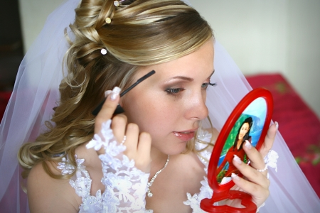 ceremonial make up: Bride s make-up Stock Photo