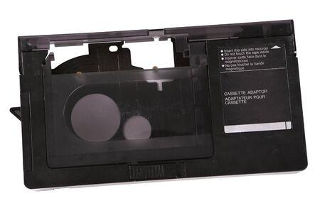 videocassette: Vídeo adaptador de cassette para la digitalización de 16 mm de cassette Foto de archivo