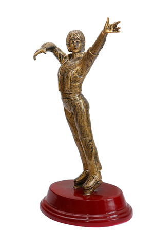 Figurine of sportsman for ice skating winner
