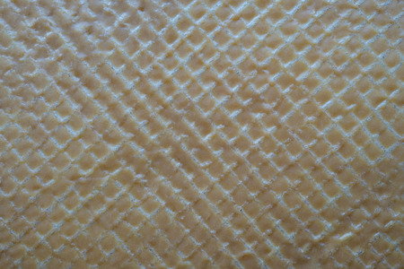 Wafer cake layer with cream from condensed milk and butter