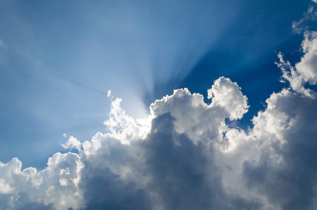 Rays of God through the clouds